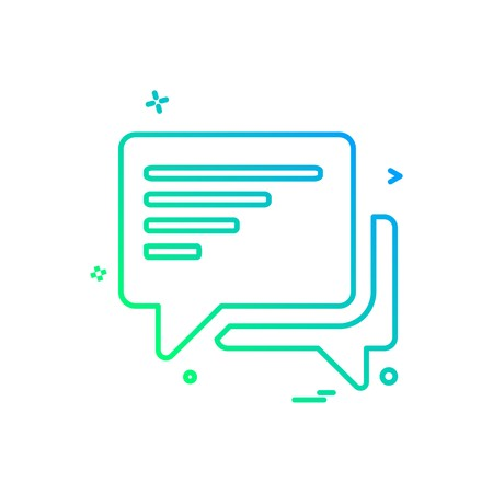 discussion chat sms icon vector design
