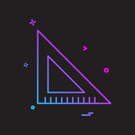 scale triangle icon vector design