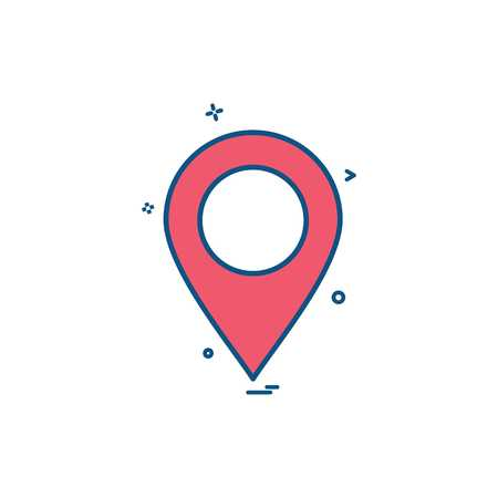 location map tracking gps icon vector design Illustration