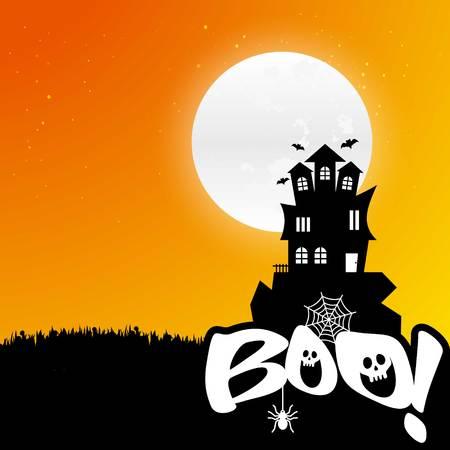 Happy Halloween scary Night background