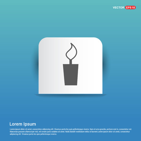 Candle Icon - Blue Sticker button