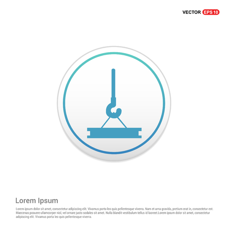 Hook Icon - white circle button Ilustrace