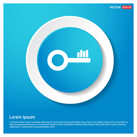 Key Icon Abstract Blue Web Sticker Button - Free vector icon