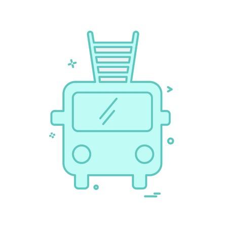 Fire brigade icon design vector