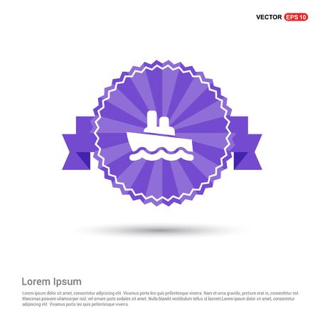 Cruise Icon - Purple Ribbon banner