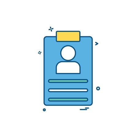 file clip-board paper-board details icon vector desige
