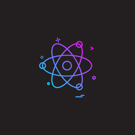 Nuclear icon design vector