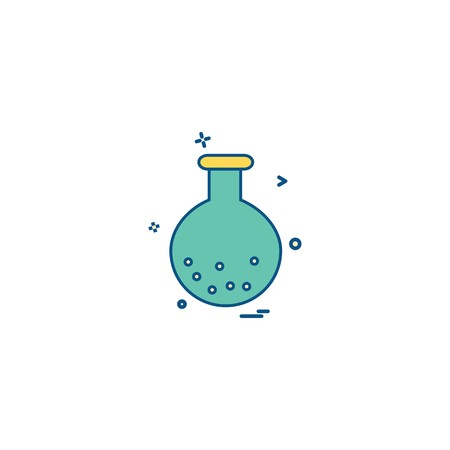 chemistry experiment science test tube iconvector design