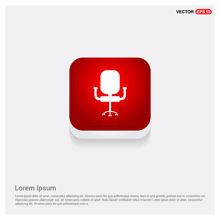 Office Chair Icon Illustration