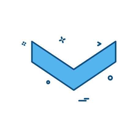 Down arrow icon design vector