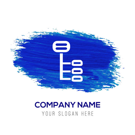 Computer Network Icon - Blue watercolor background