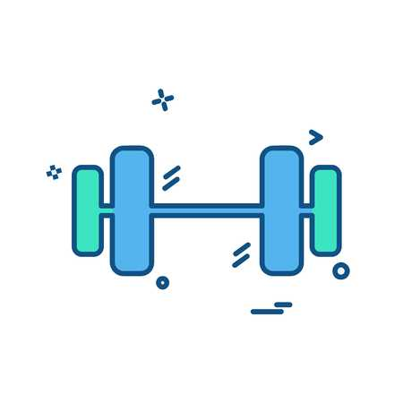 Dumbell icon design vector Stock Vector - 118369345