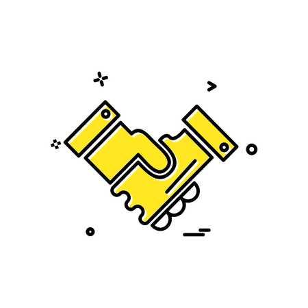 Hand shake icon design vector