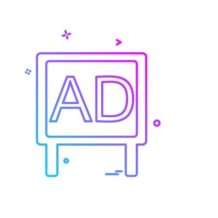 Bill board icon design vector