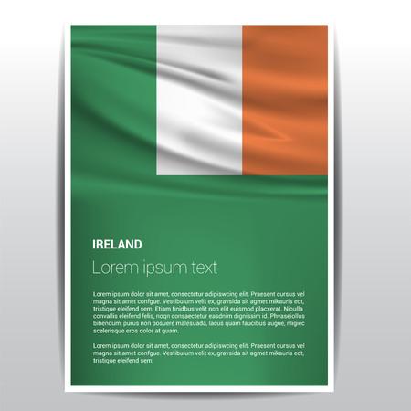 Ireland flag design vector Illustration