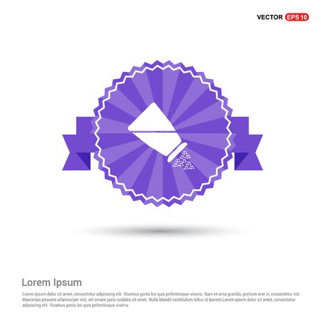 Salt or pepper shaker icon - Purple Ribbon banner