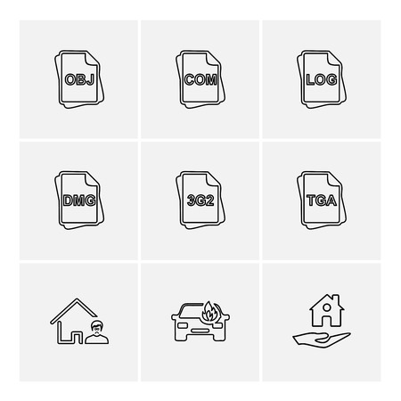 file type , files , documents , file  , doc , ai , psd , pdf , png , jpg , dmg , exe , msd , apk , txt, docx ,xls , html , css  , wav, mp3 , mp4 , db , eps , svg, icon, vector, design,  flat,  collection, style, creative,  icons Illustration