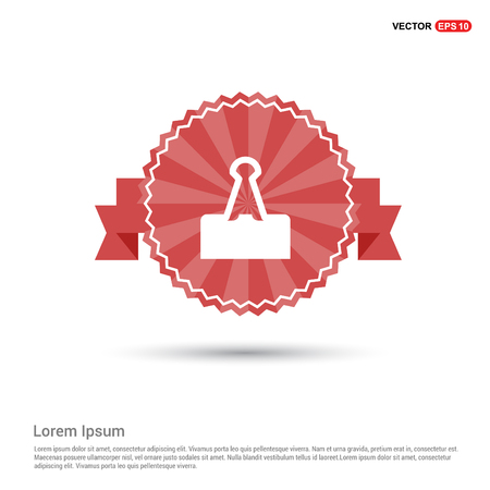 Attach Paper Icon - Red Ribbon banner