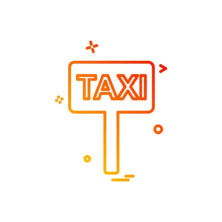 Taxi board icon design vector Ilustração
