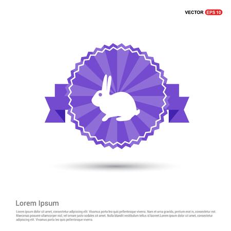 rabbit Icon - Purple Ribbon banner