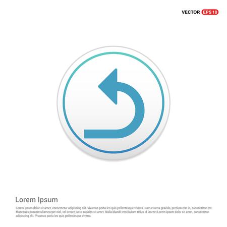 Turn Left arrow icon - white circle button Illustration