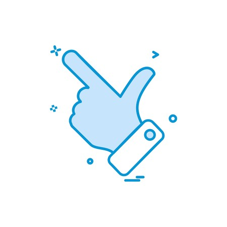 hand choose click icon vector design