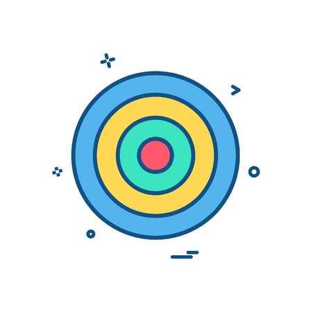 target Aim archery focus success icon vector design