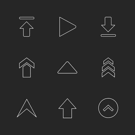 arrows , directions , pointer , arrow , user interface , pointer , up , down , left , right , play ,pause , forword , rewind , icon, vector, design,  flat,  collection, style, creative,  icons