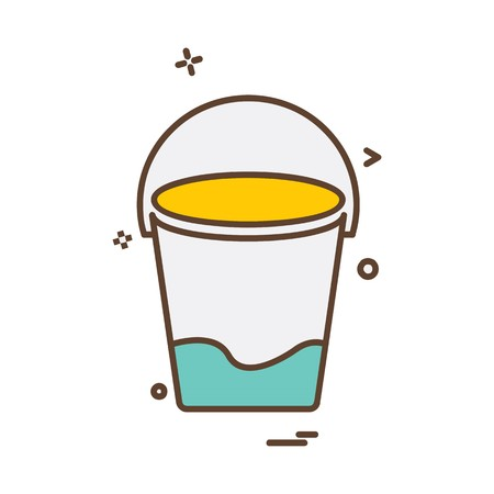 Bucket icon design vector