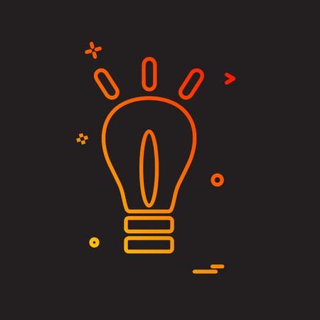 Bulb icon design vector