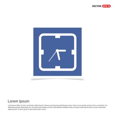 clock icon - Blue photo Frame Illustration