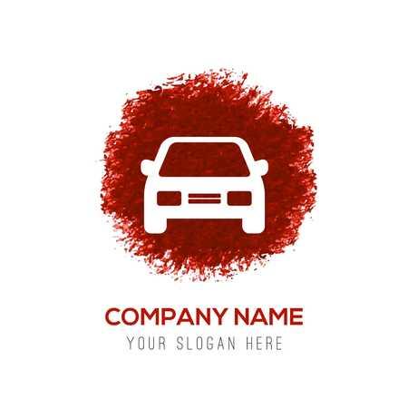 Car icon - Red WaterColor Circle Splash Archivio Fotografico - 115079885