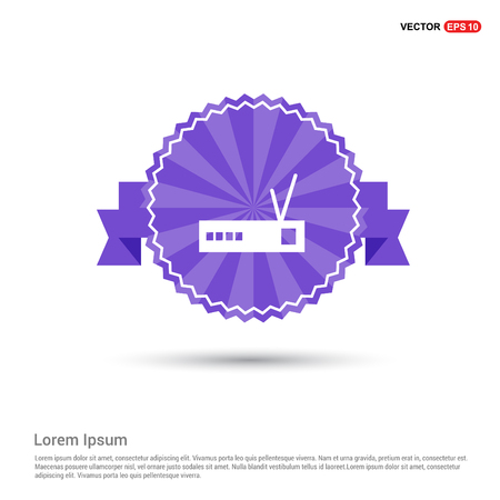 Router icon - Purple Ribbon banner