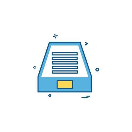 Dropbox icon design vector Stock Vector - 115079988