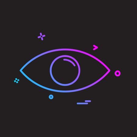 Eye icon design vector Foto de archivo - 118370413