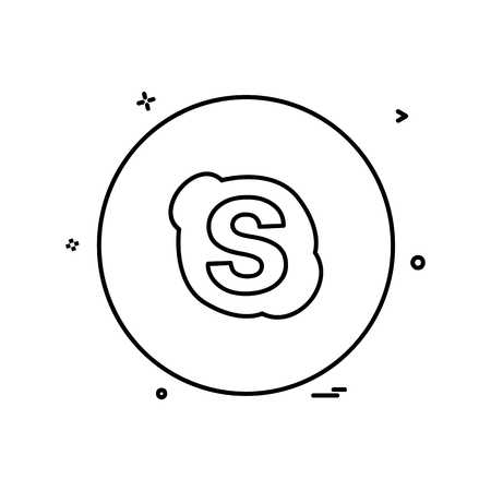 Skype icon design vector