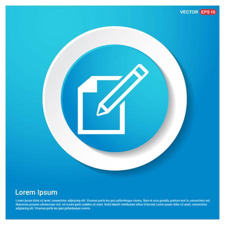 Edit, pencil icon Abstract Blue Web Sticker Button - Free vector icon Ilustração