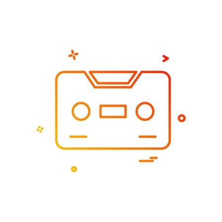 Vecteur de conception icône casette Vecteurs