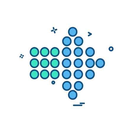 Arrow right icon design vector