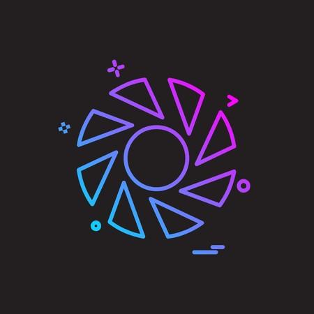 Camera icon design vector