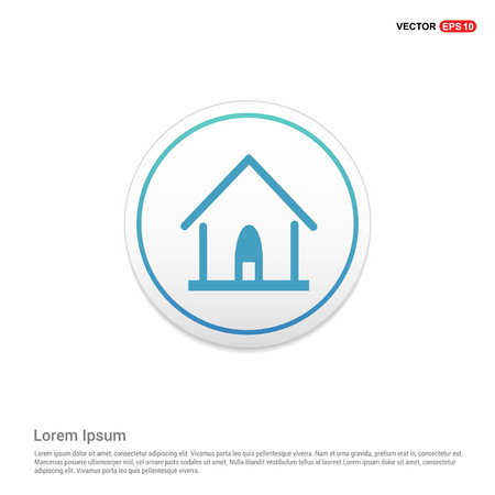 Home Icon Hexa White Background icon template - Free vector icon