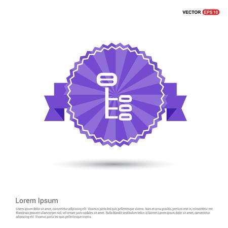 Computer Network Icon - Purple Ribbon banner Illustration