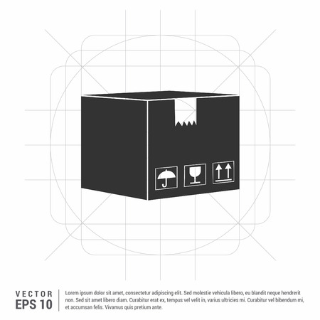 cardboard boxes icon