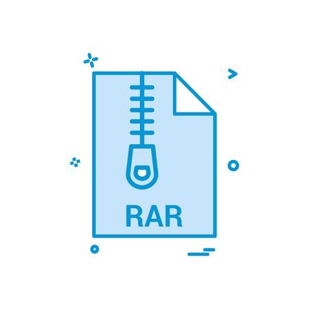 rar file file extension file format icon vector design