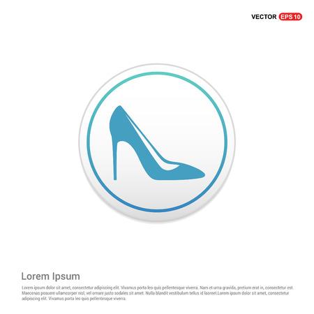High-heels icon - white circle button