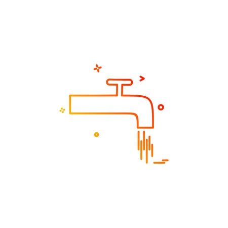 tap water object icon vector desige