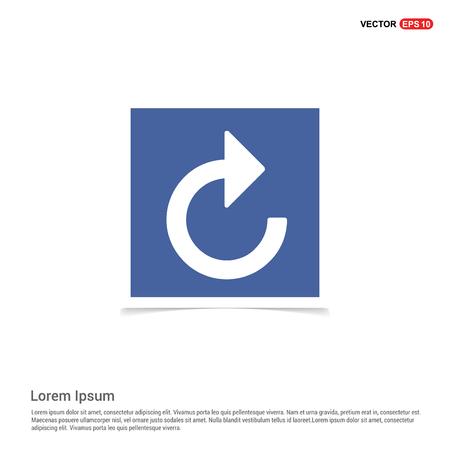 Web refresh icon - Blue photo Frame