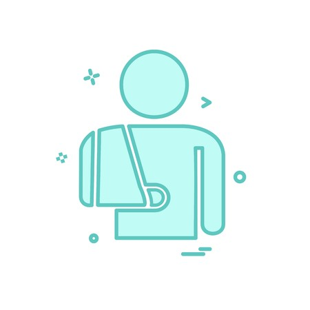 Patient icon design vector