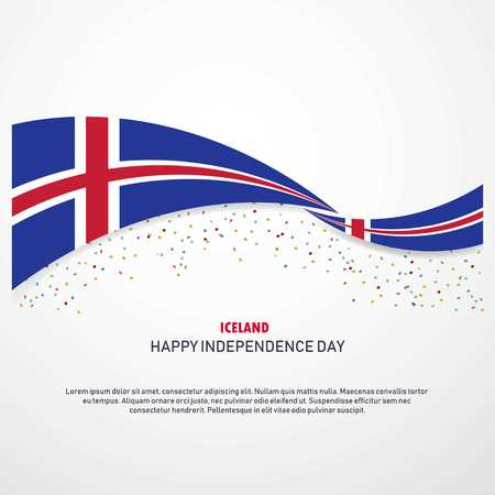 Iceland Happy independence day Background