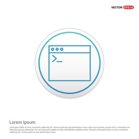 Application window interface icon - white circle button